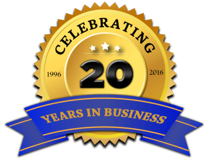 20YearsIn Business
